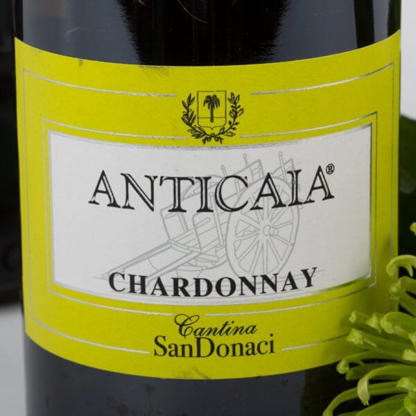 Hvidvin Anticaia Chardonnay, etiket forside