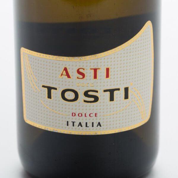 Mini Asti Spumante, forside etiket