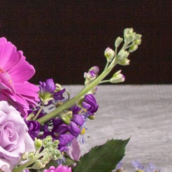Båredekoration, blå og lilla, zoom 5