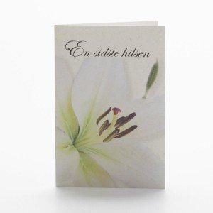 Blomsterkort, En sidste hilsen, Lilje, Forside
