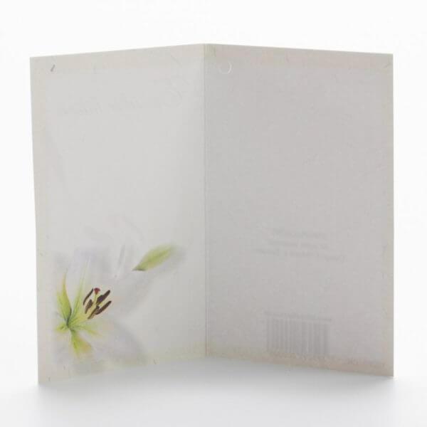 Blomsterkort, En sidste hilsen, Lilje, Inderside