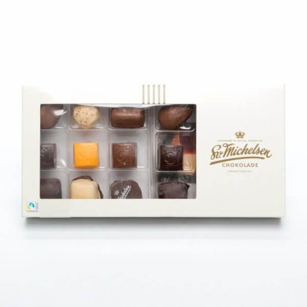 Billede af åben æske chokolade på 200 gram
