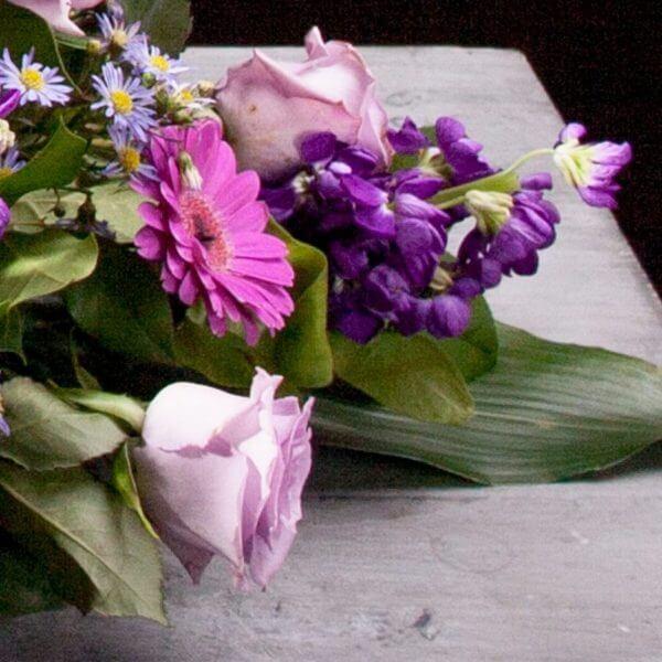 Kistepynt blå og lilla, detalje 3