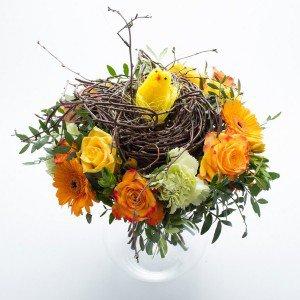Påskebuket, blomstrende rede