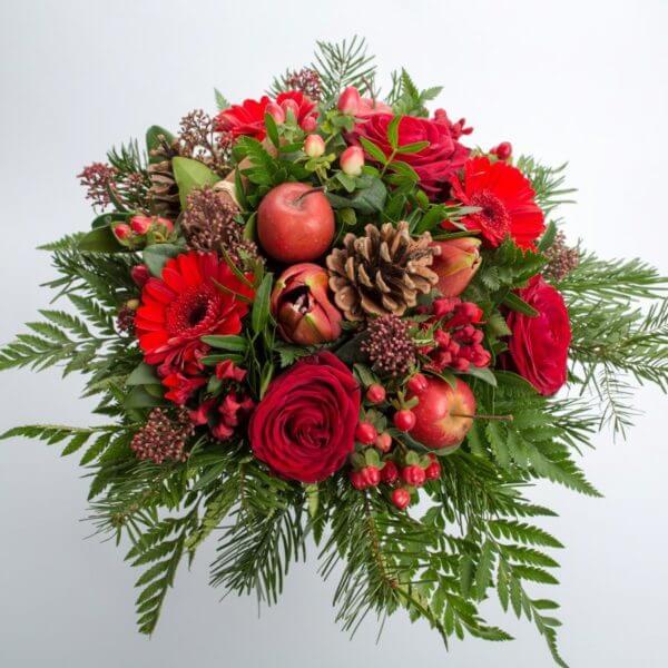 Rød Julebuket, ovenfra