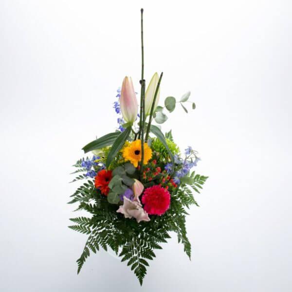 Variationsbuket med Liljer, ovenfra