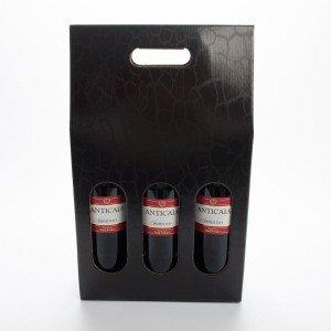 Karton til 3 flasker rødvin