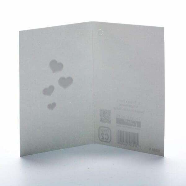 Hvid med røde hjerter - klassisk og smart kort til din hilsen