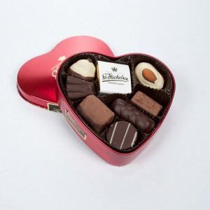 Chokolade med hjerteæske