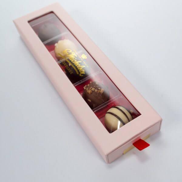 5 Trøffelkugler af chokolade