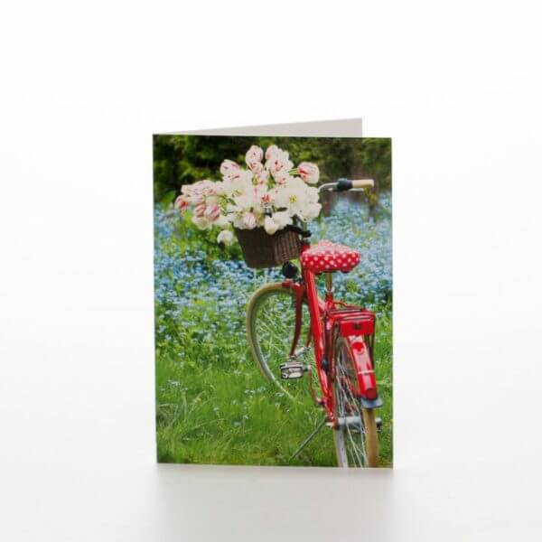 Blomster cykel blomsterkort