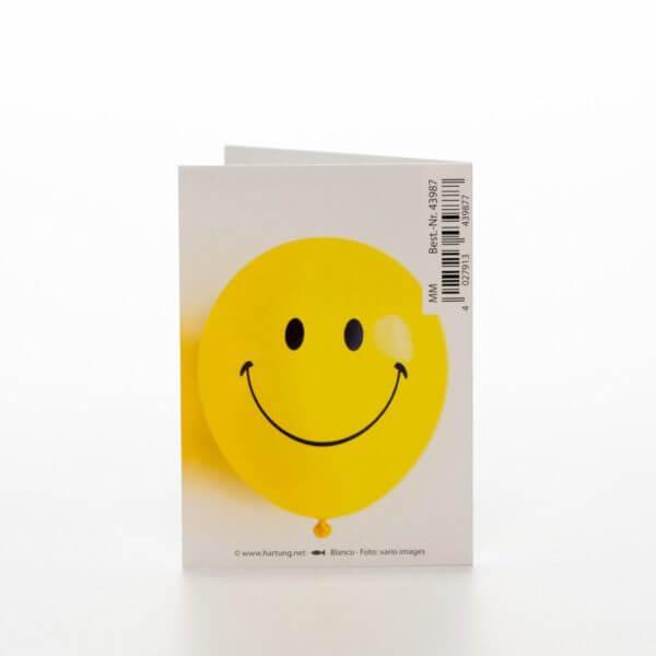Smiley opmuntrende blomsterkort
