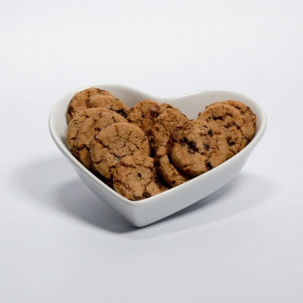 Småkager med chokolade, Småkagerne lagt i en skål