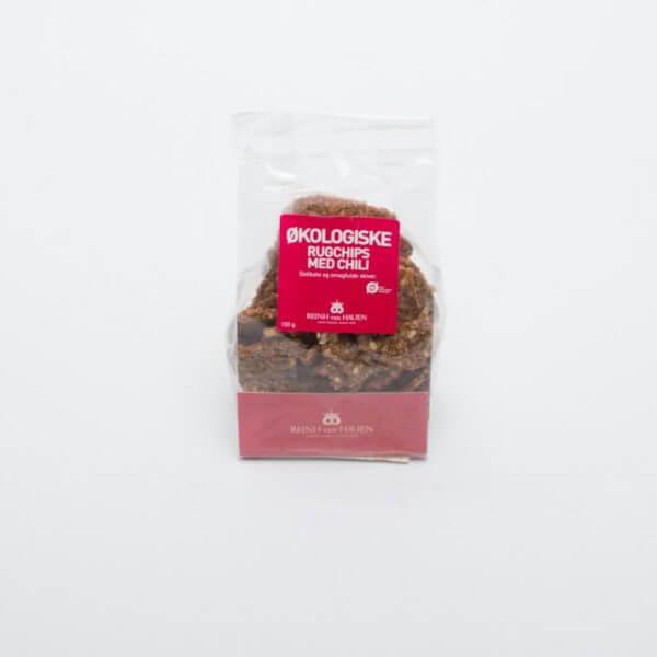 Økologiske rugchips med chili