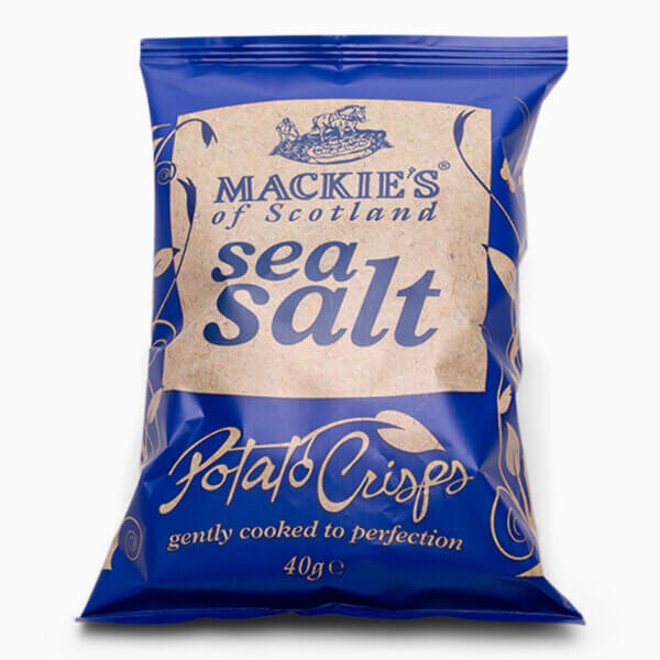 Chrystal Blue OceanBillede af Seasalt Chips i en blå pose