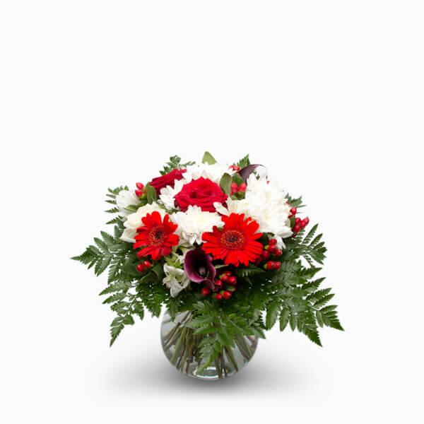 rød og hvid buket i størrelsen; flot